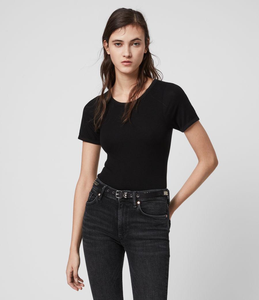 Womens Nino Short Sleeve Bodysuit (black) - Image 1