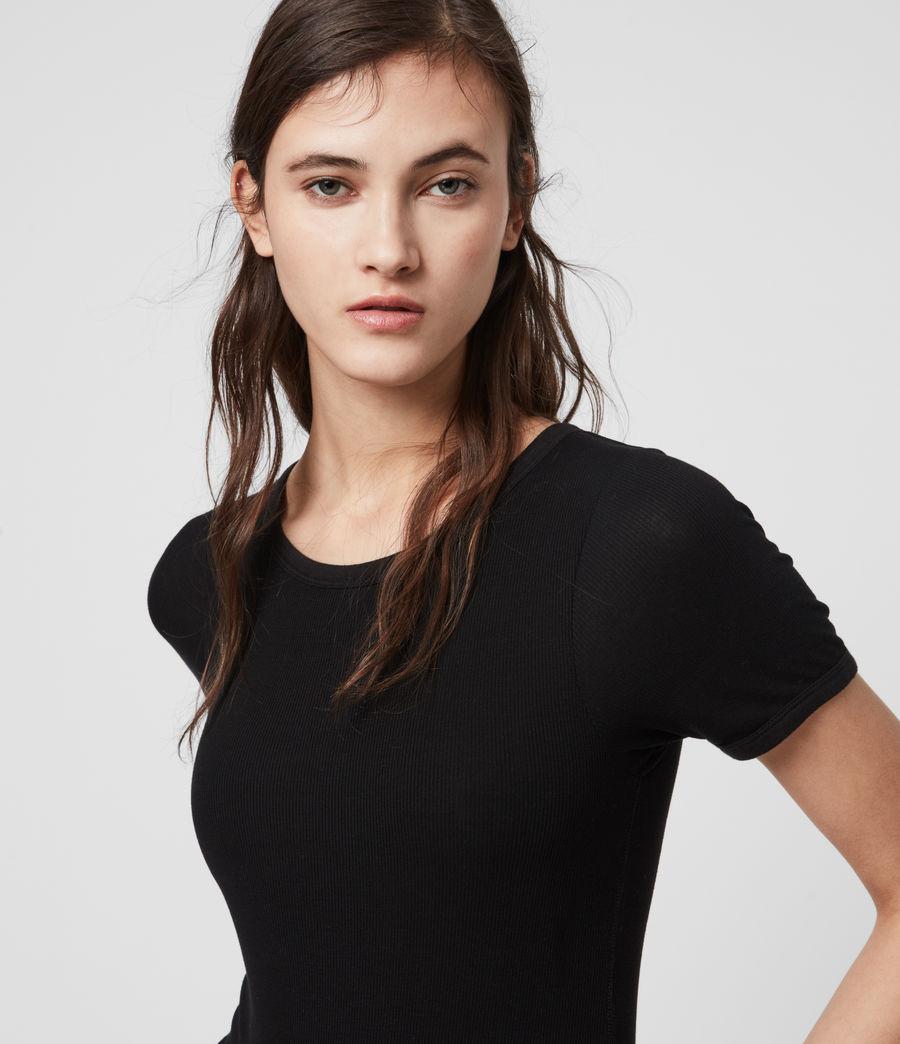 Womens Nino Short Sleeve Bodysuit (black) - Image 2