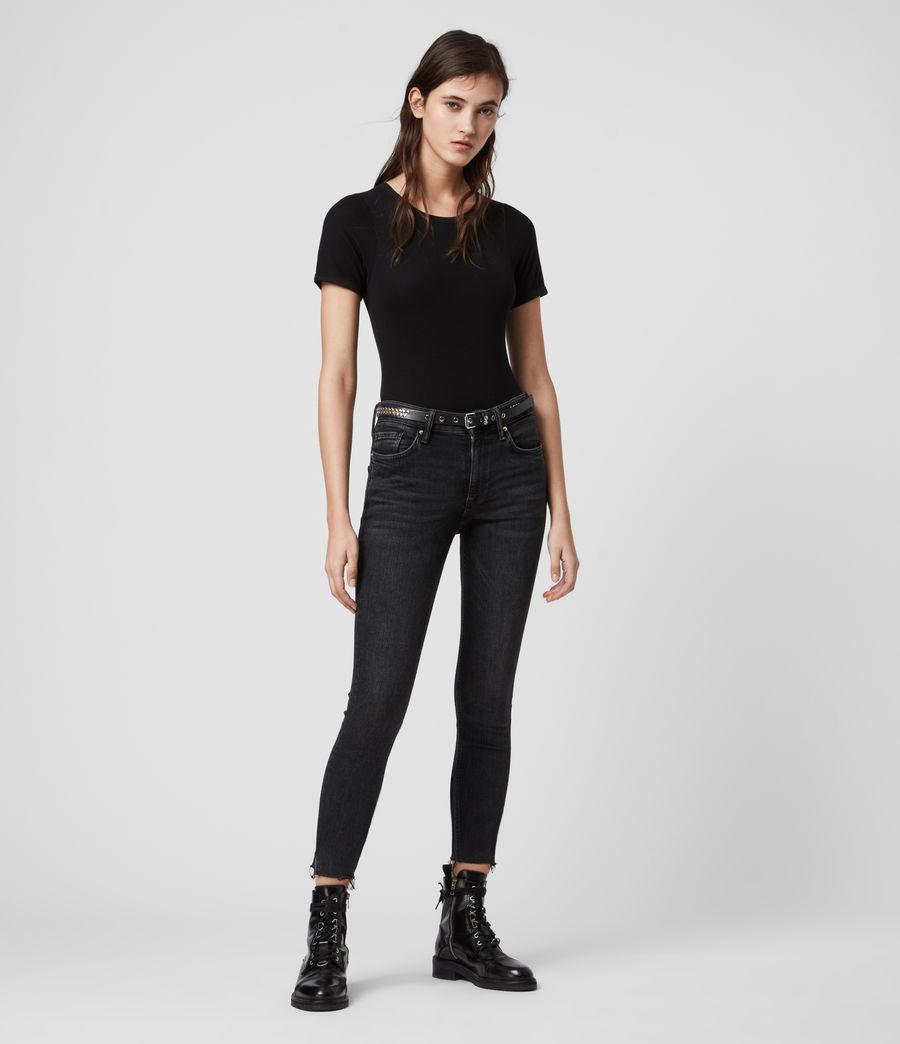 Womens Nino Short Sleeve Bodysuit (black) - Image 3