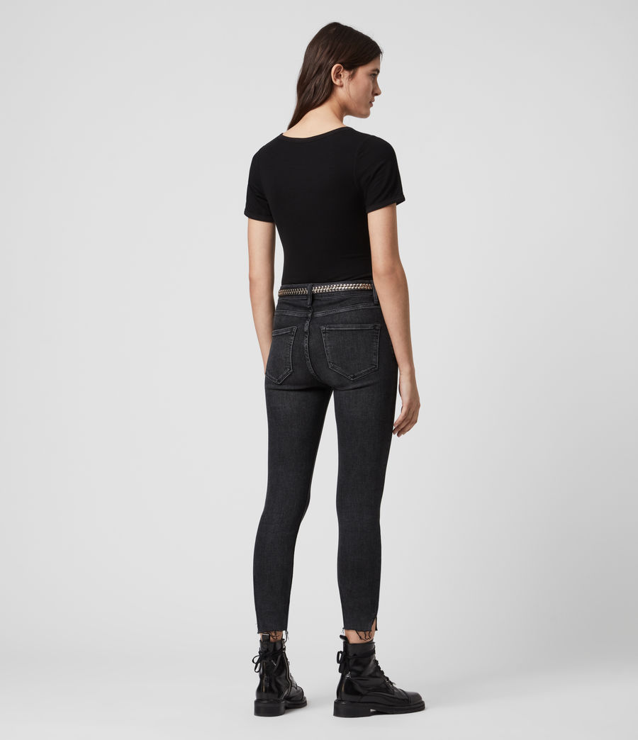 Womens Nino Short Sleeve Bodysuit (black) - Image 4
