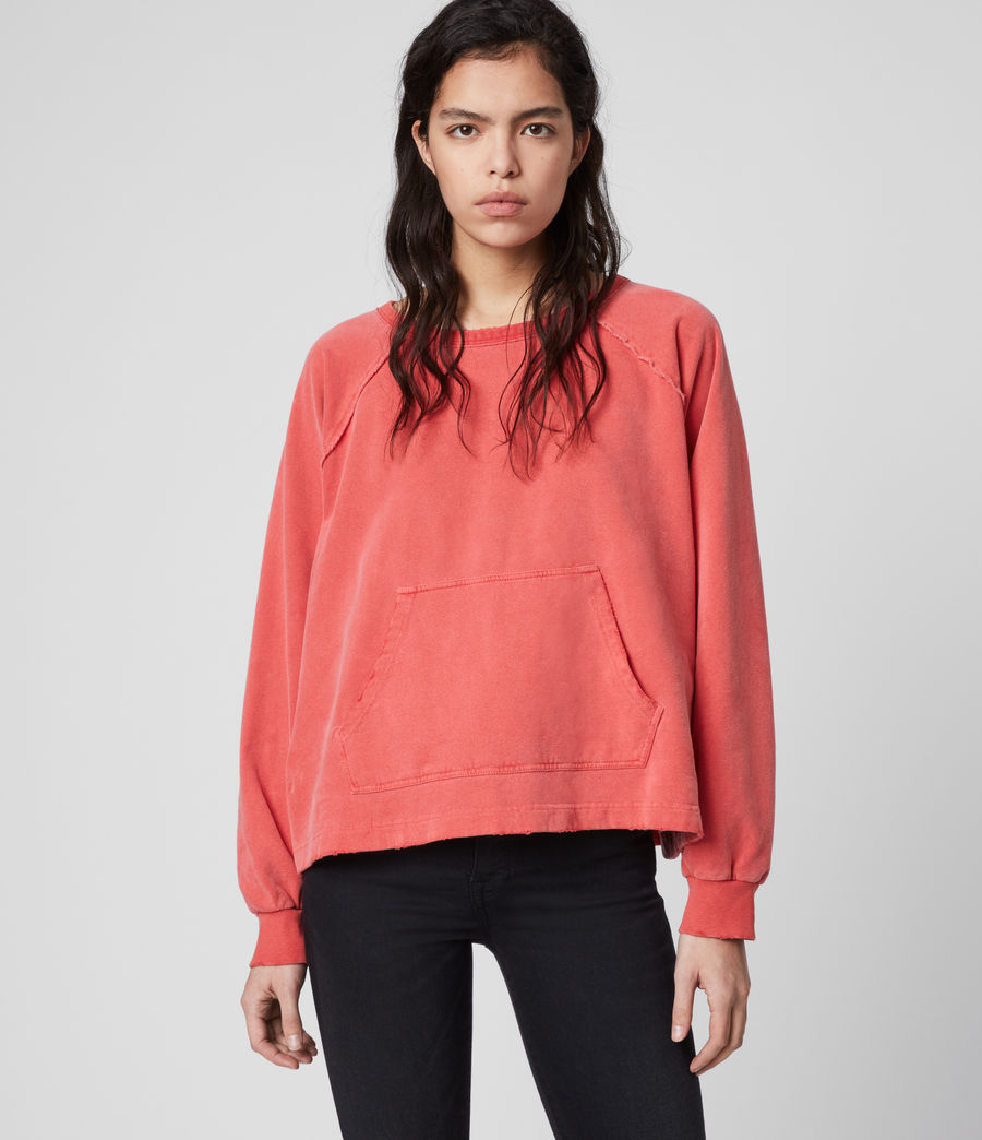Womens Jessi Sweatshirt (red) - Image 1