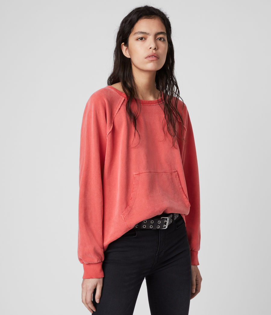 Womens Jessi Sweatshirt (red) - Image 4