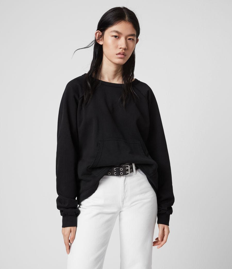 Damen Jessi Sweatshirt (black) - Image 4