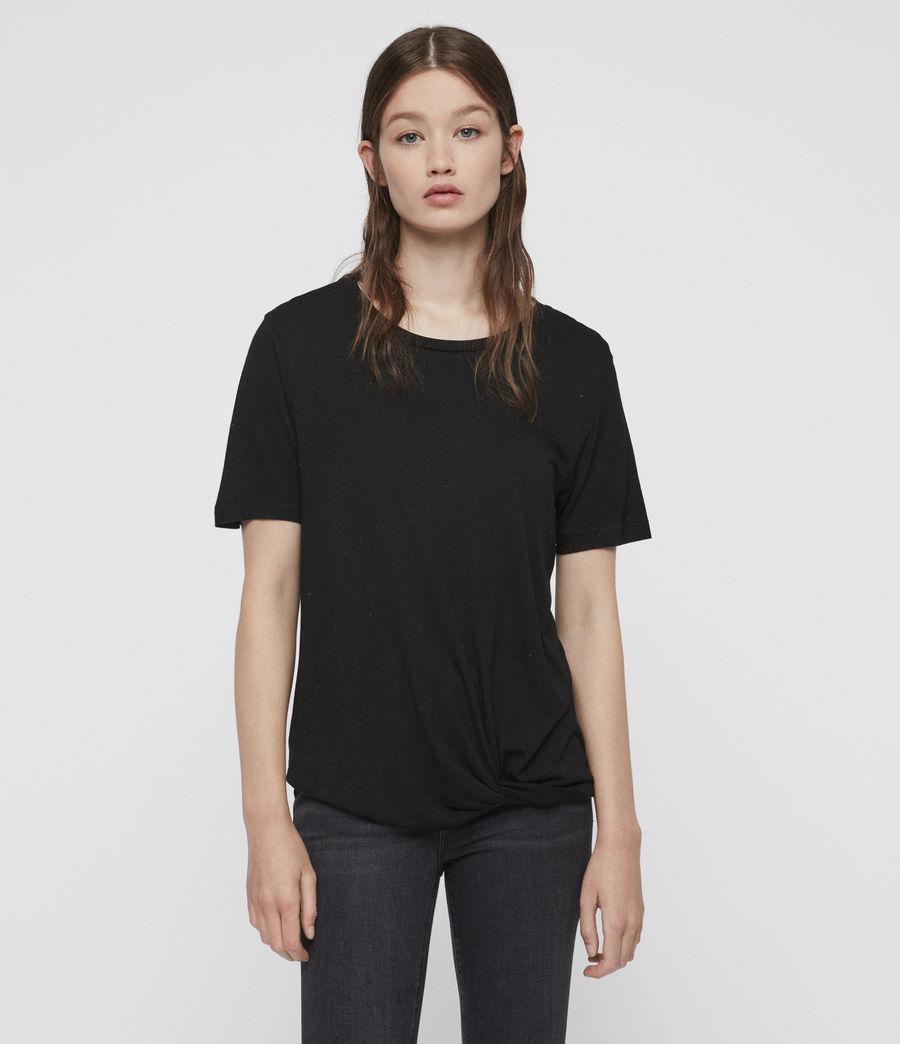 Femmes T-Shirt à Inserts Métalliques Wilma (black) - Image 1