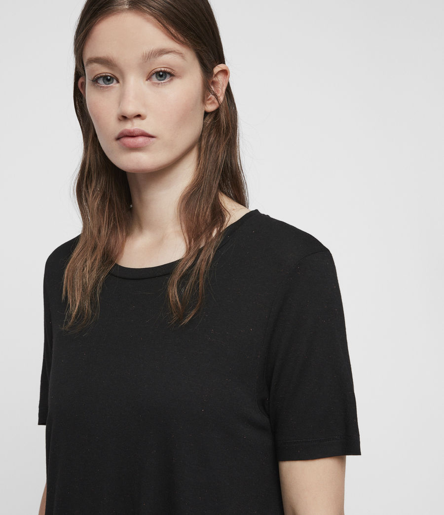 Femmes T-Shirt à Inserts Métalliques Wilma (black) - Image 2