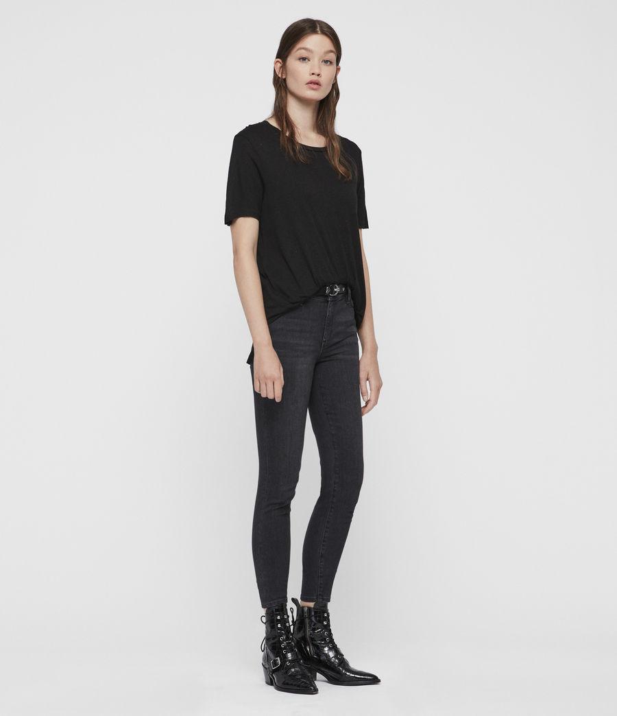 Femmes T-Shirt à Inserts Métalliques Wilma (black) - Image 3