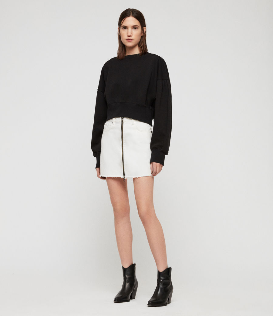 Women's Storn Cropped Sweatshirt (black) - Image 1