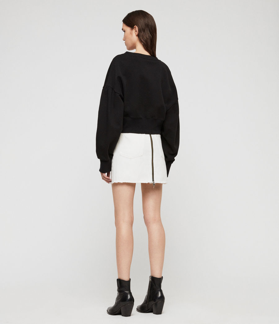 Women's Storn Cropped Sweatshirt (black) - Image 5