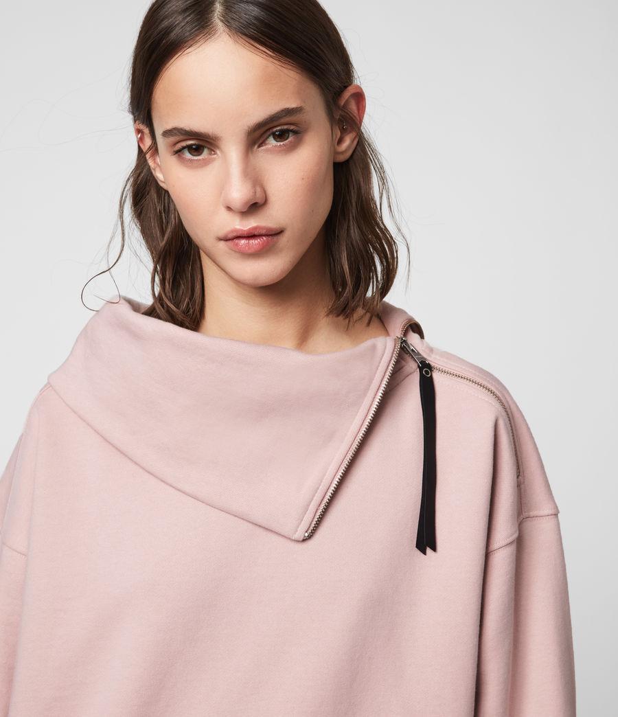 Donne Felpa Bella Zip - In cotone con collo asimmetrico (nude_pink) - Image 2