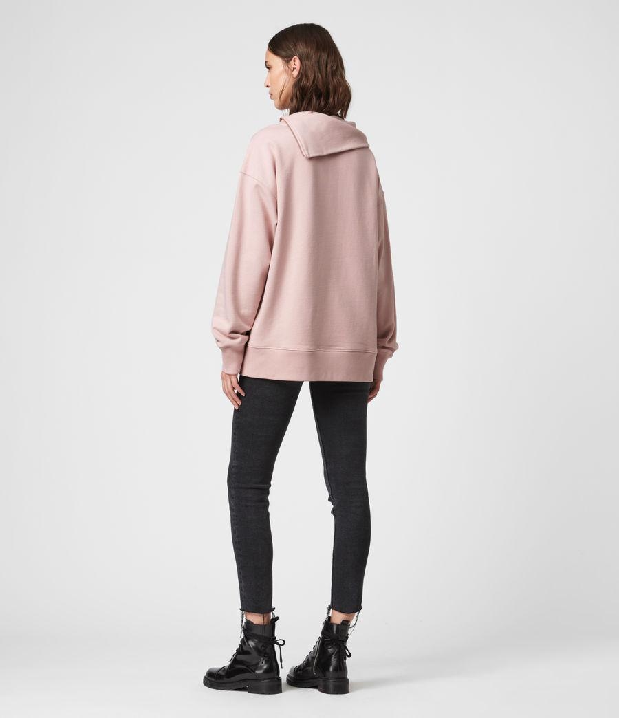 Donne Felpa Bella Zip - In cotone con collo asimmetrico (nude_pink) - Image 5