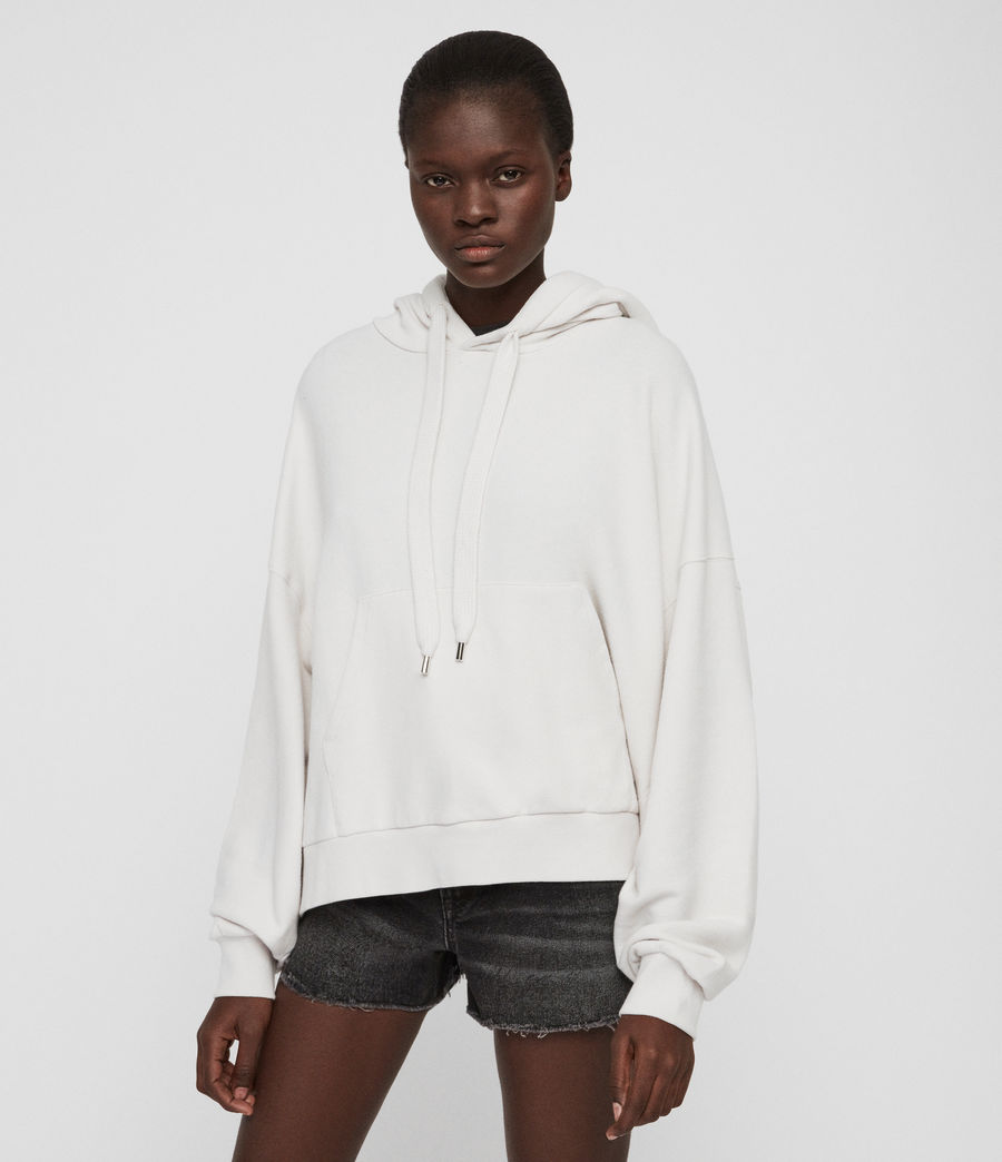 Womens Talow Hoodie (ivory_white) - Image 4