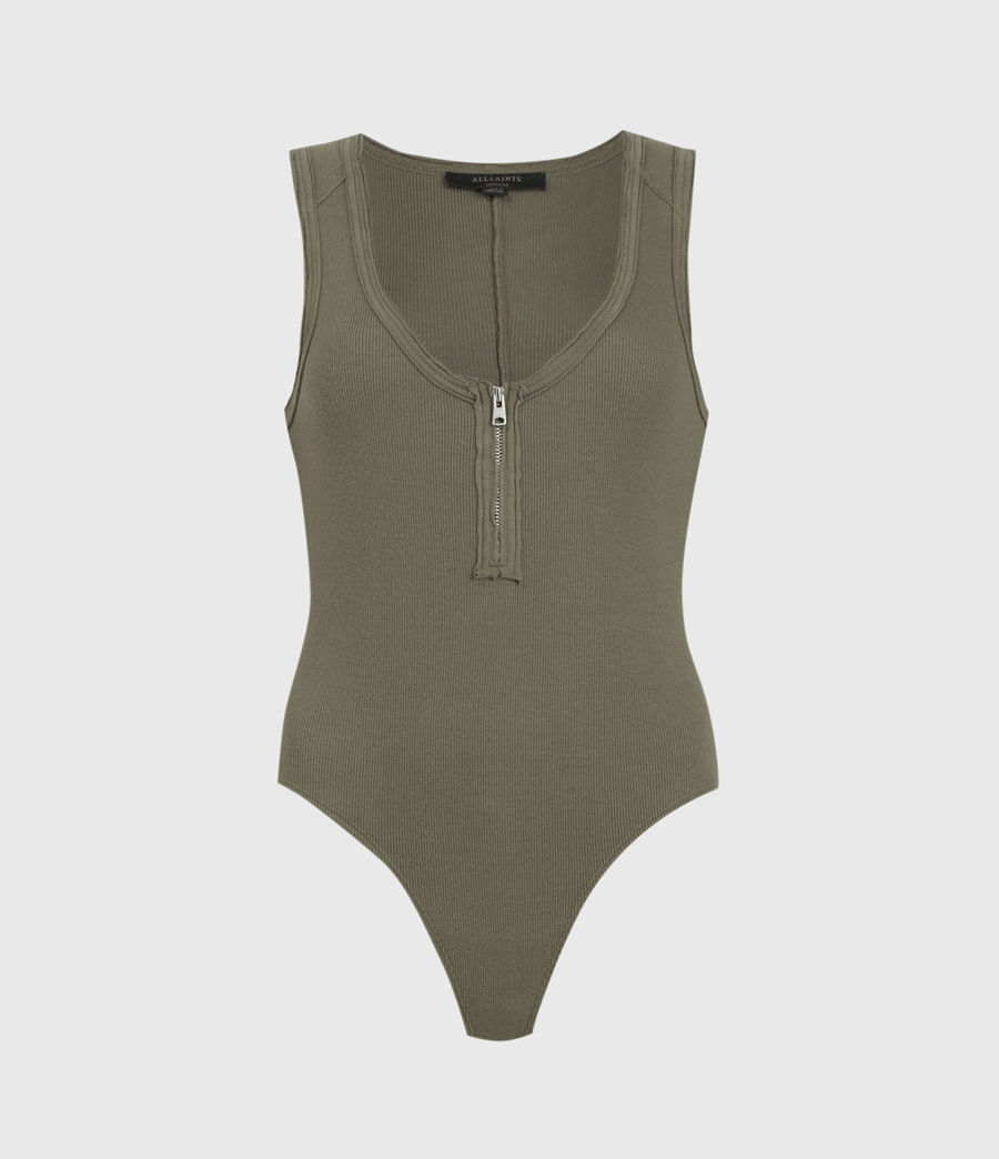 Womens Alicia Bodysuit (utility_green) - Image 1
