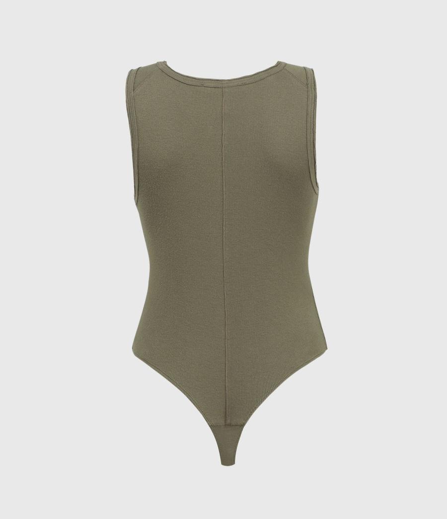 Womens Alicia Bodysuit (utility_green) - Image 2