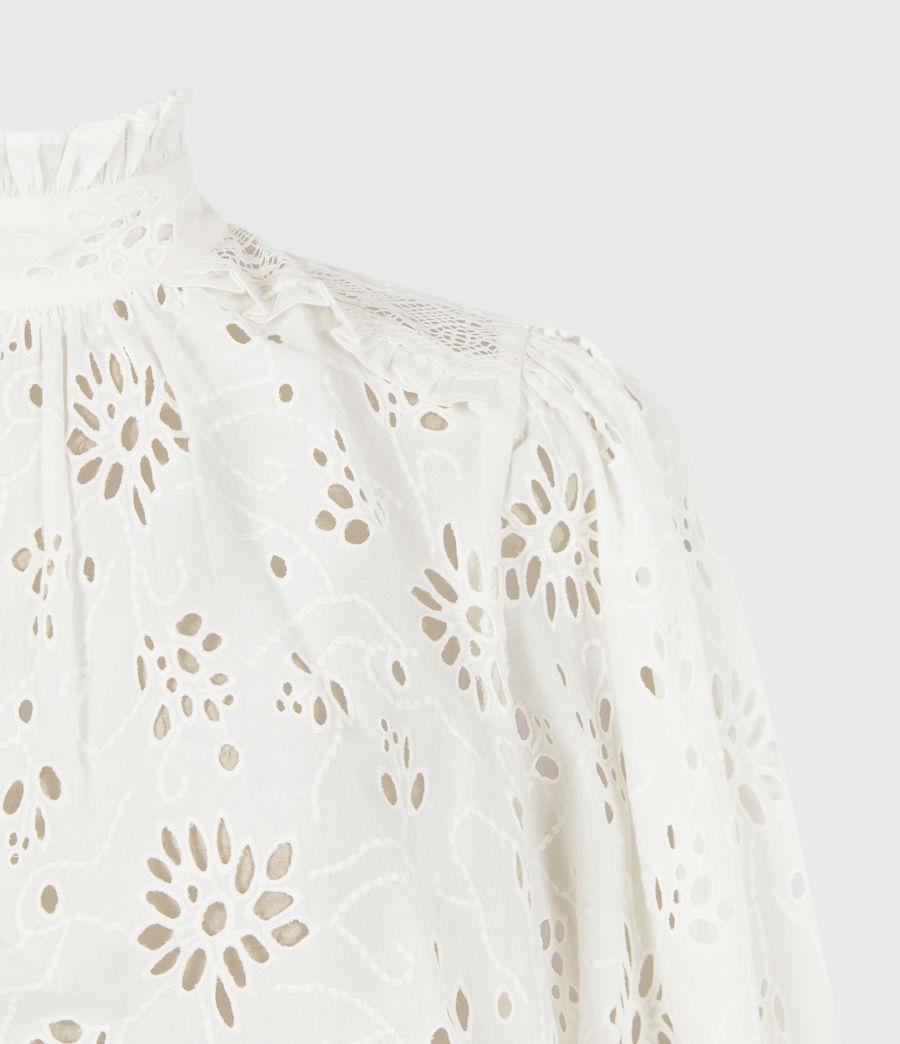 Women's Annasia Broderie Top (chalk_white) - Image 5