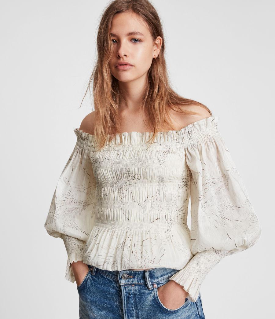 Women's Lara Dover Silk Blend Top (white) - Image 1
