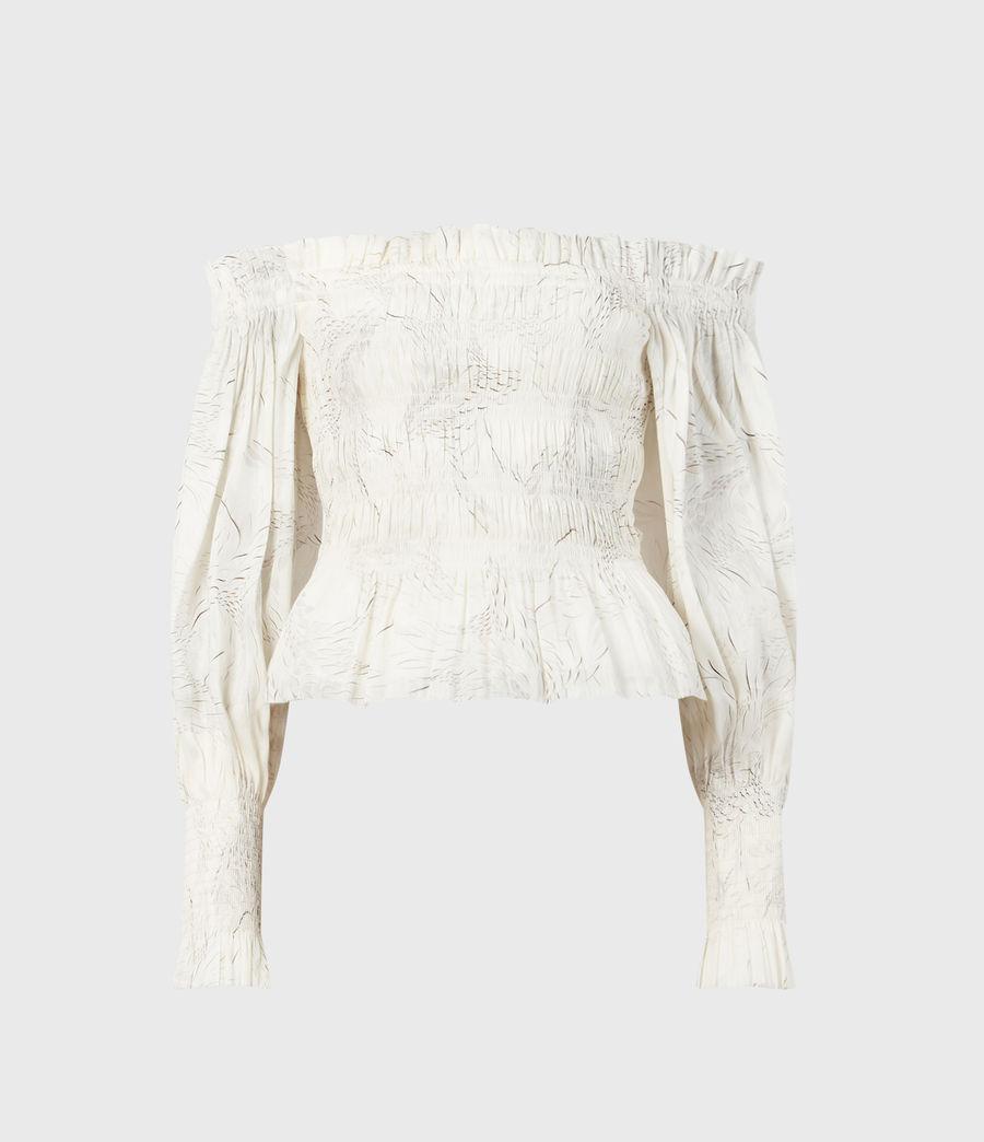Women's Lara Dover Silk Blend Top (white) - Image 2