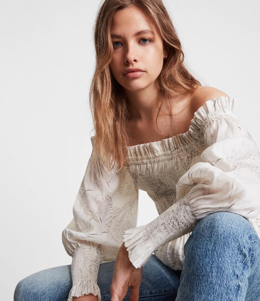 Women's Lara Dover Silk Blend Top (white) - Image 5