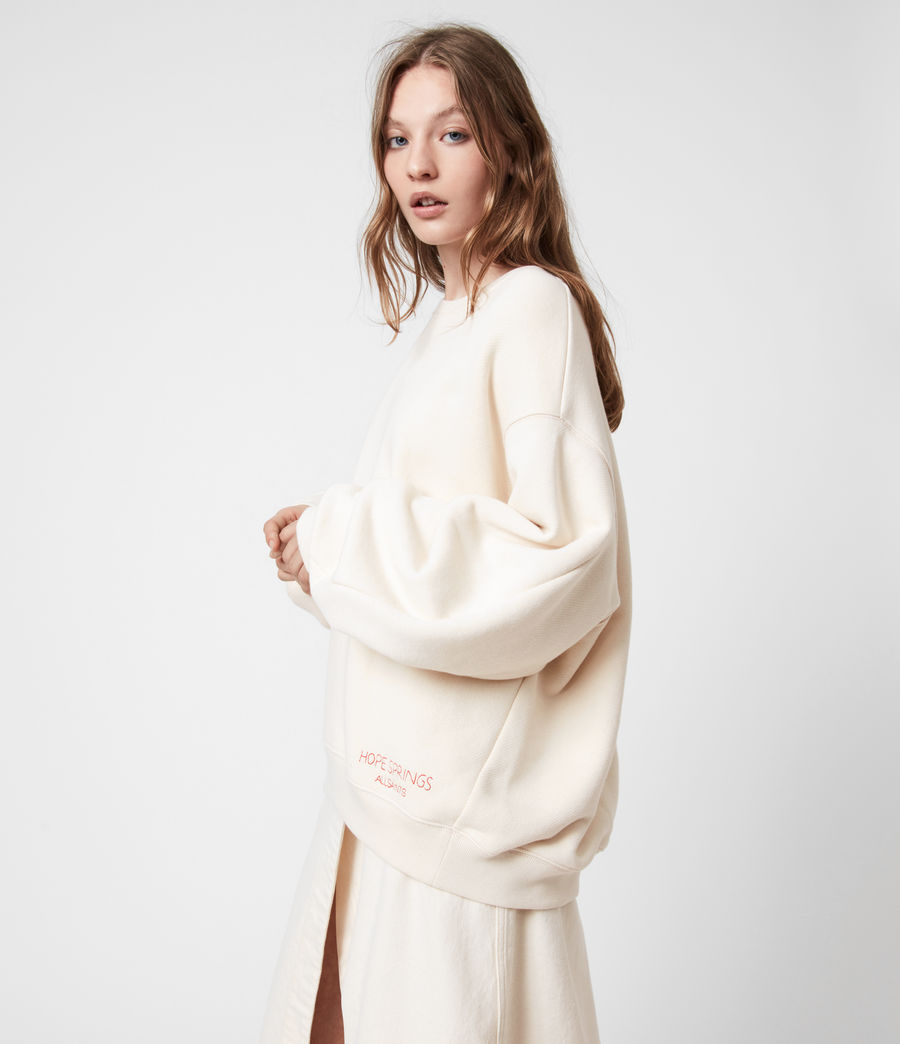 Damen Iris Iris Crew Sweatshirt (ecru_white) - Image 1