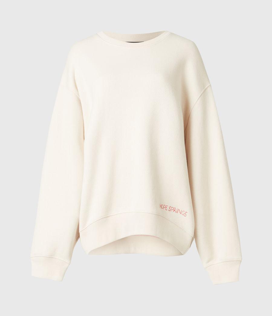 Damen Iris Iris Crew Sweatshirt (ecru_white) - Image 2