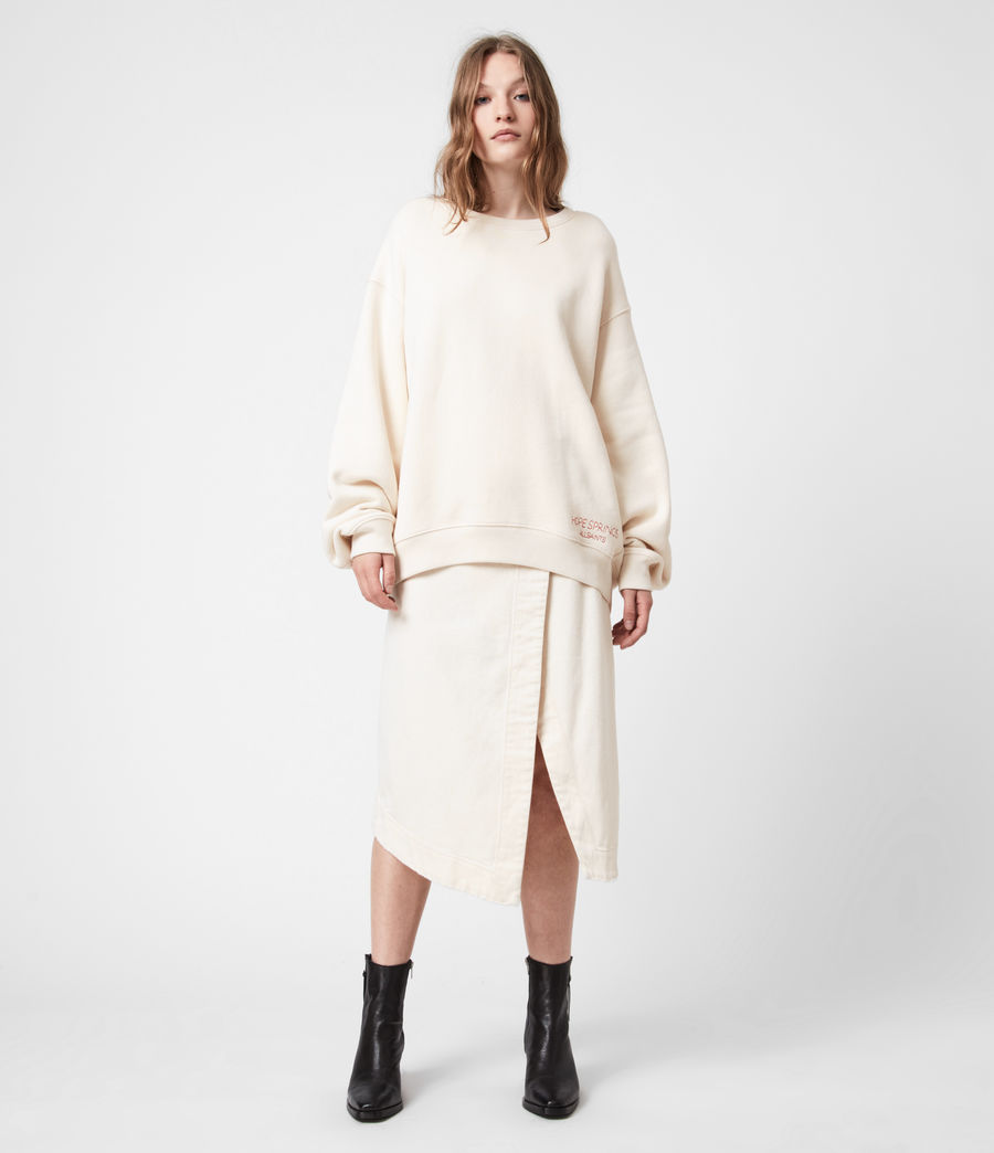 Damen Iris Iris Crew Sweatshirt (ecru_white) - Image 4