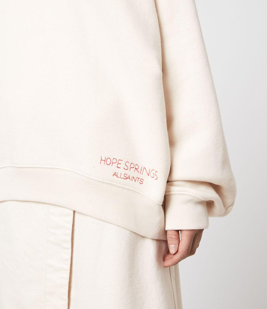 Damen Iris Iris Crew Sweatshirt (ecru_white) - Image 8
