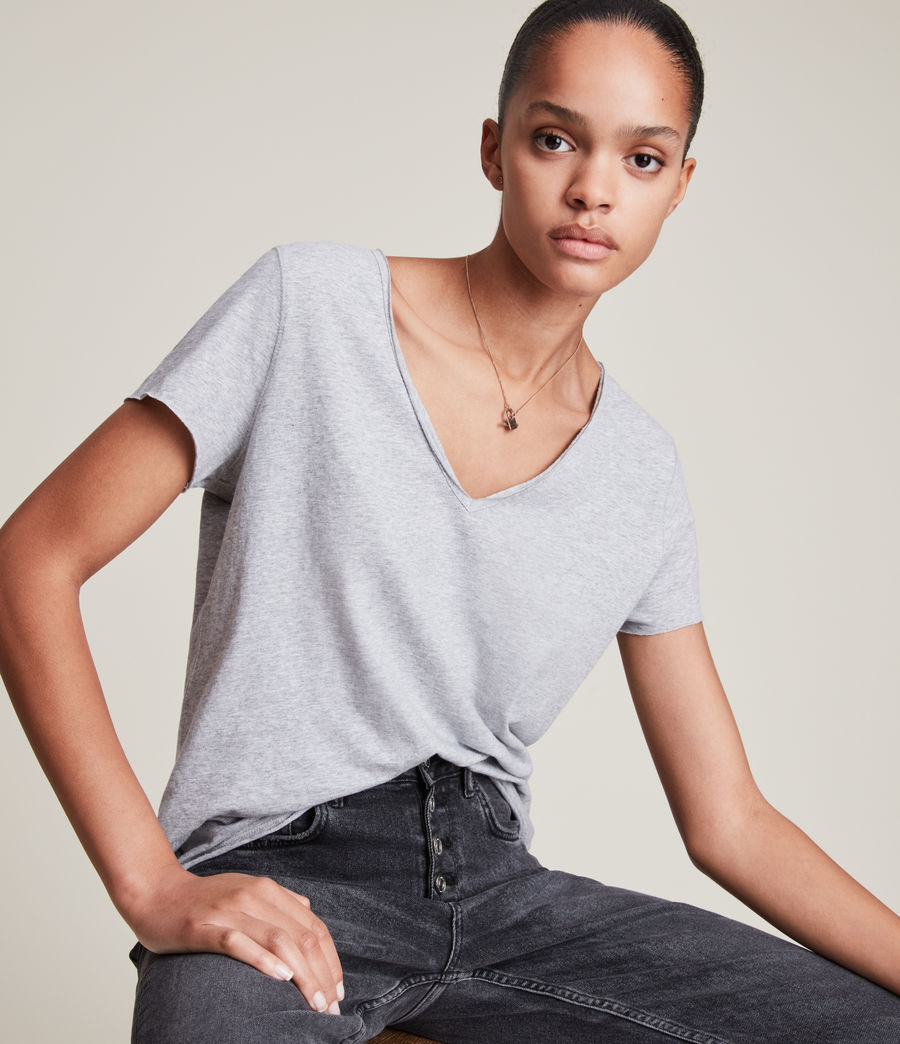 Damen Emelyn Tonic T-Shirt (grey_marl) - Image 2