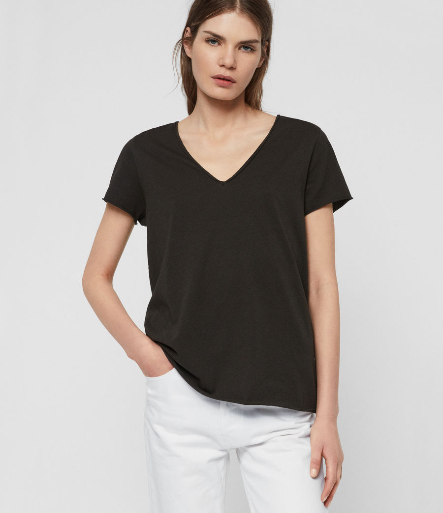 Womens Emelyn Tonic T-Shirt (washed_black) - Image 1