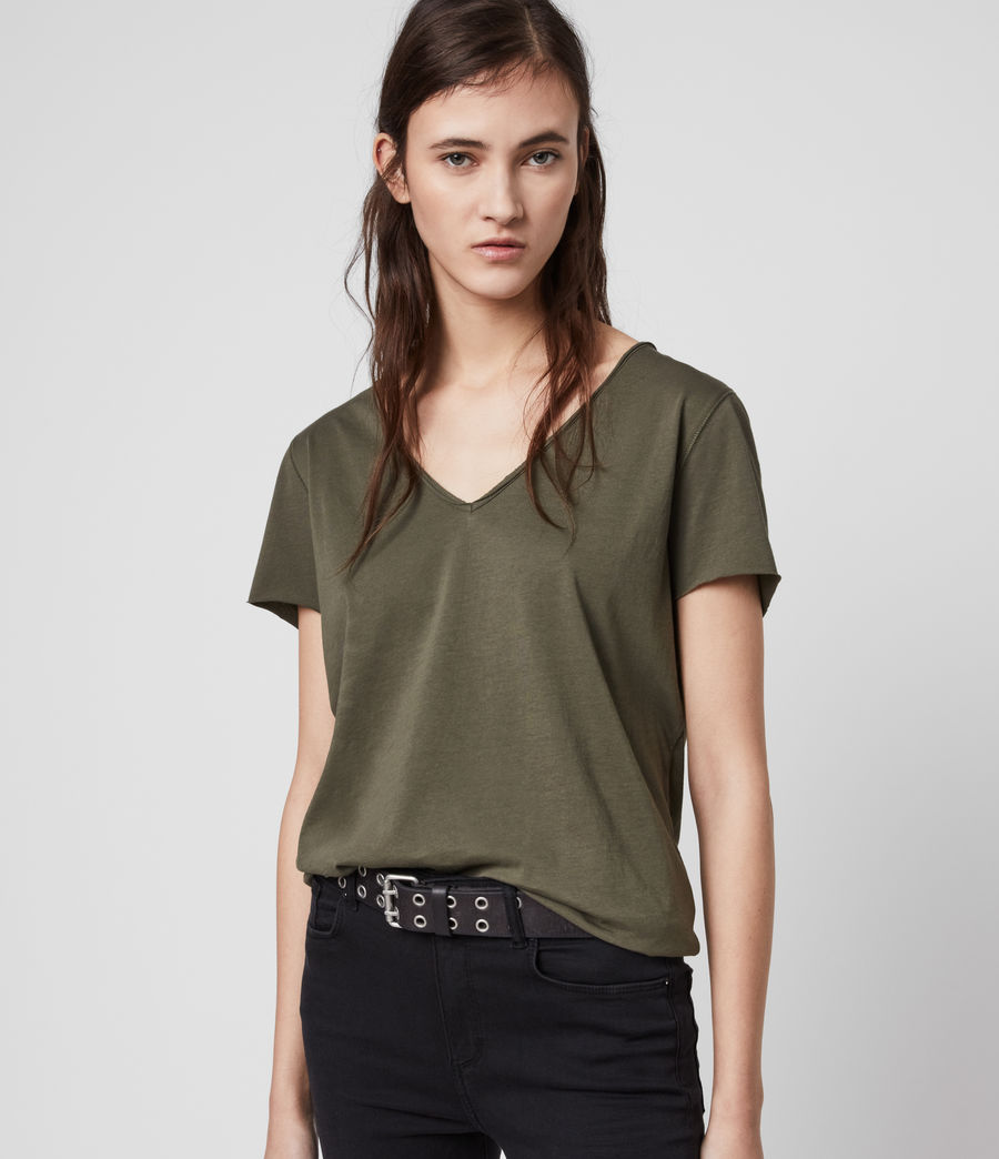 Womens Emelyn Tonic T-Shirt (khaki_green) - Image 1