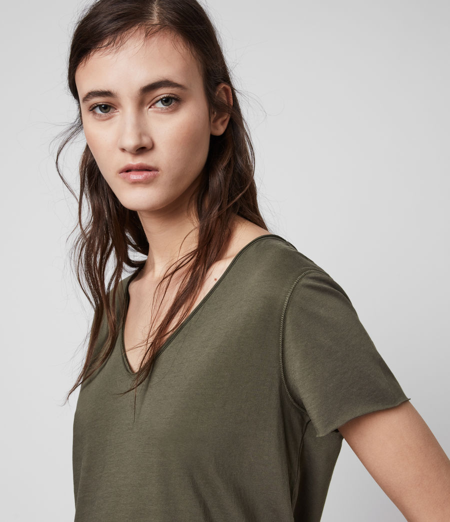 Womens Emelyn Tonic T-Shirt (khaki_green) - Image 2