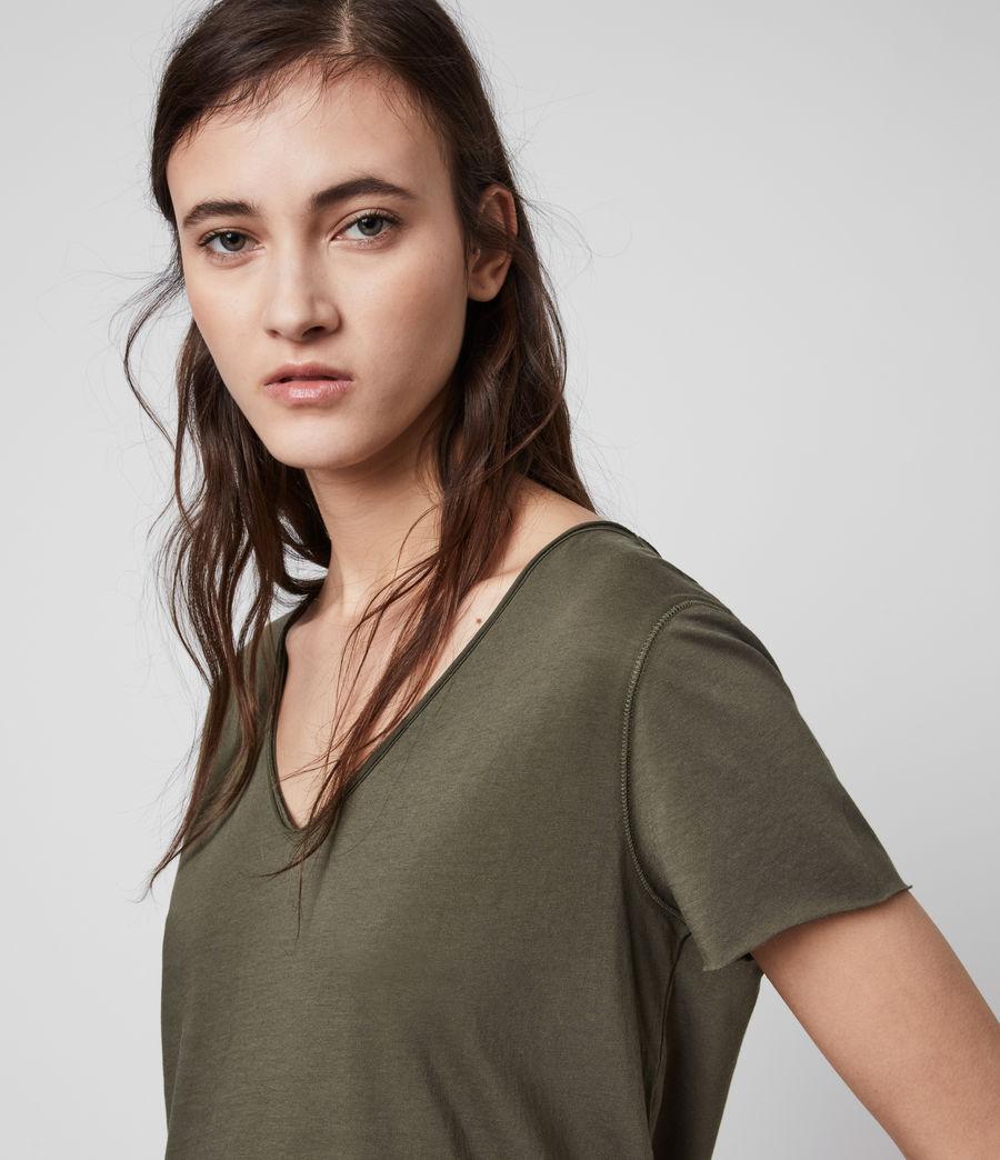 Mujer Emelyn Tonic T-Shirt (khaki_green) - Image 2