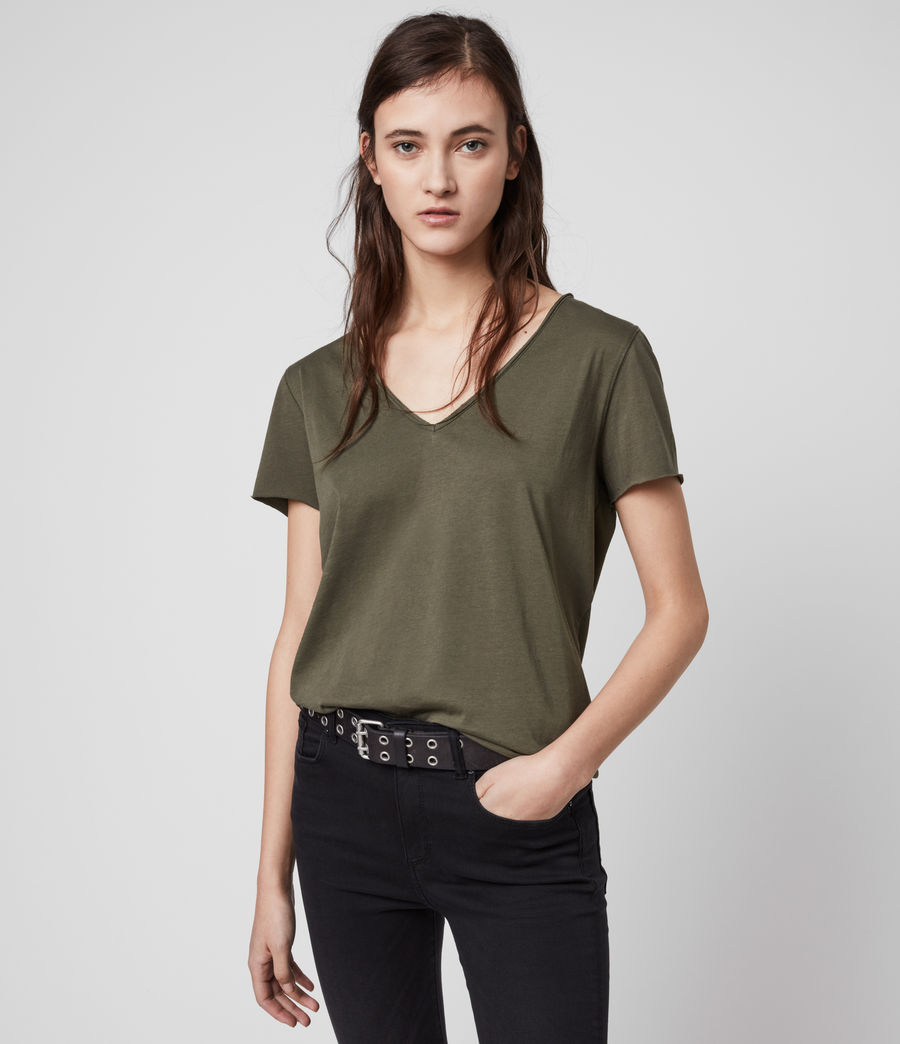 Womens Emelyn Tonic T-Shirt (khaki_green) - Image 4