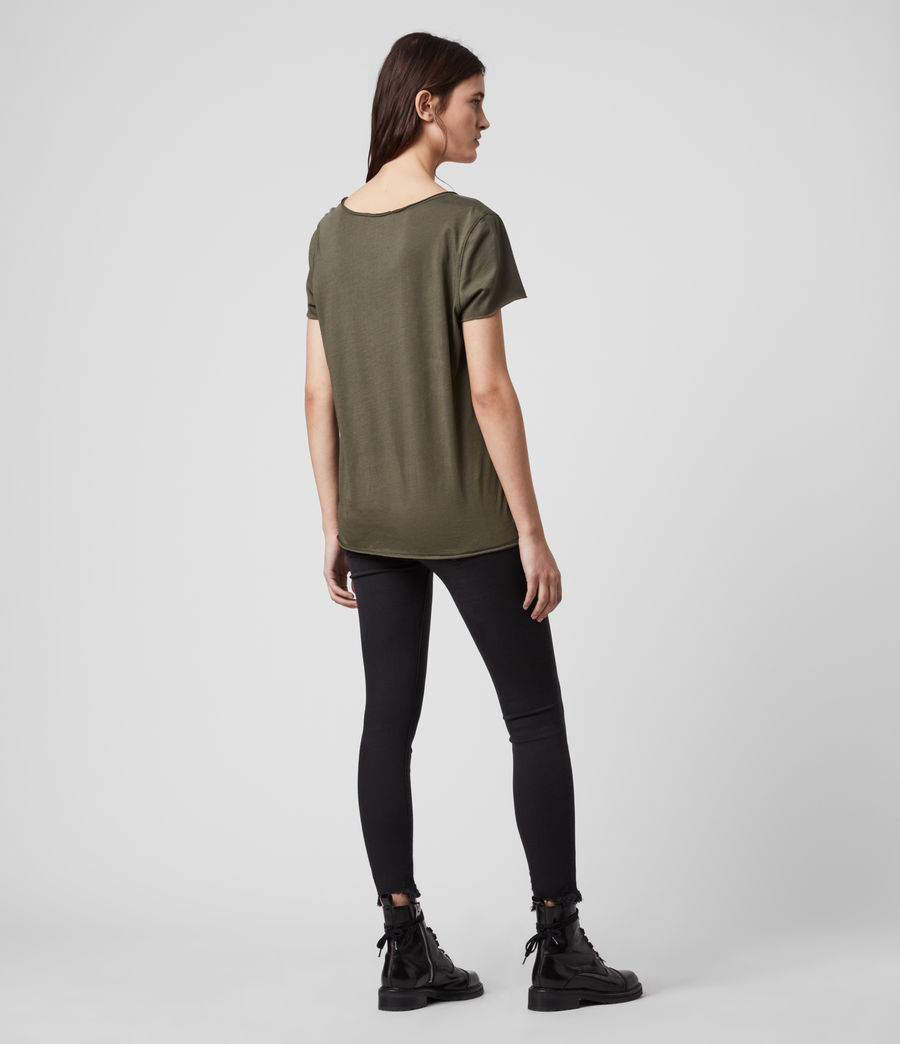Womens Emelyn Tonic T-Shirt (khaki_green) - Image 5