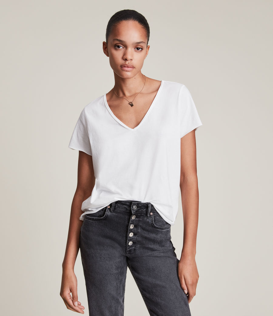 Womens Emelyn Tonic T-Shirt (chalk_white) - Image 2