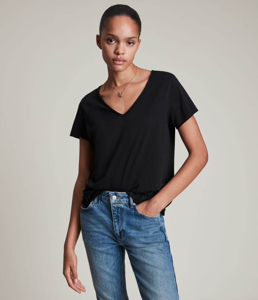 Donne T-shirt Emelyn Tonic - Minimal in cotone (jet_black) - Image 1