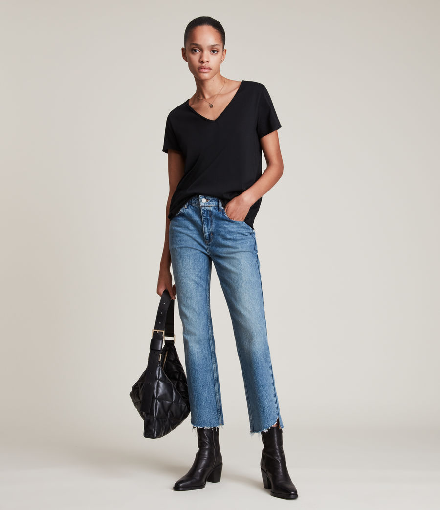 Donne T-shirt Emelyn Tonic - Minimal in cotone (jet_black) - Image 3