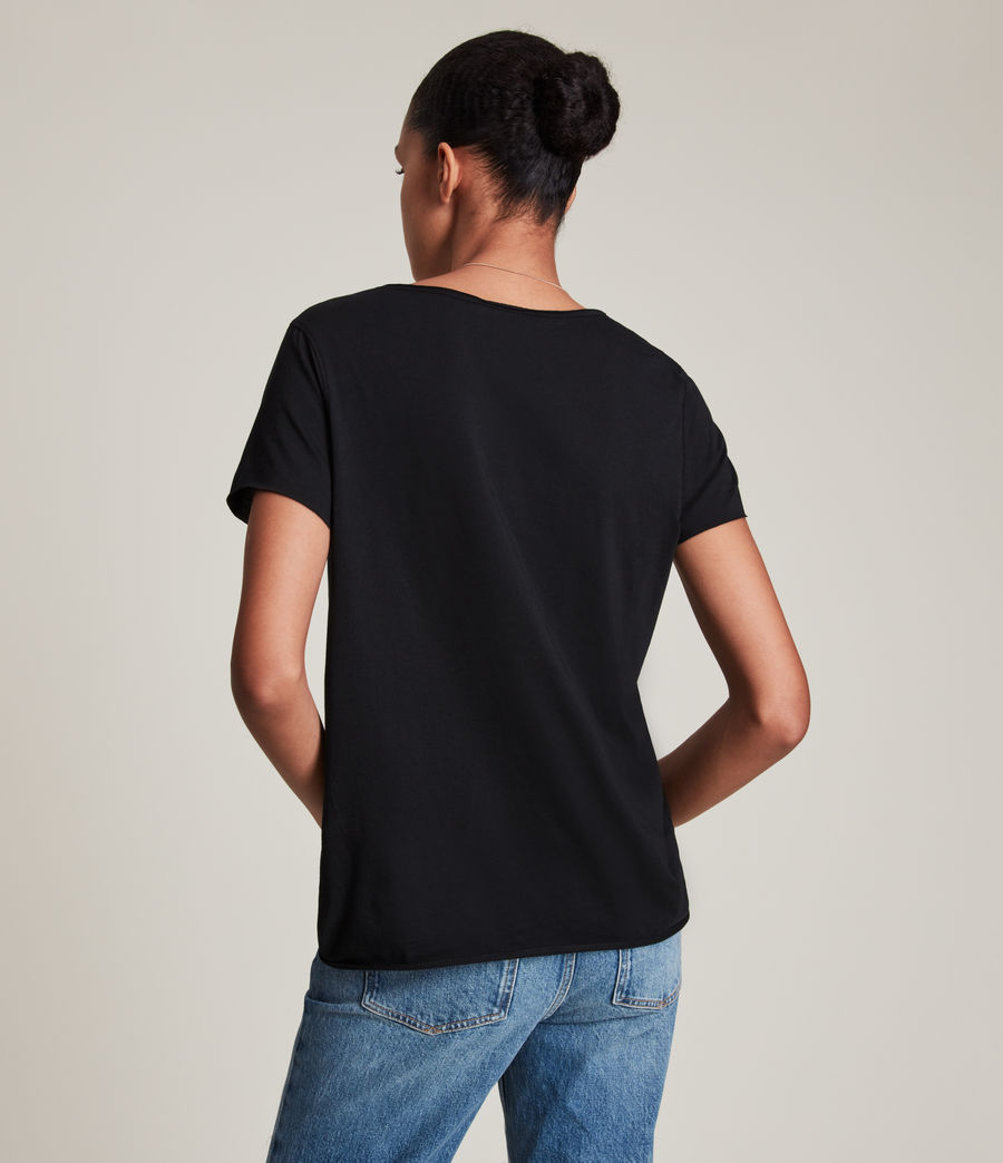 Donne T-shirt Emelyn Tonic - Minimal in cotone (jet_black) - Image 4