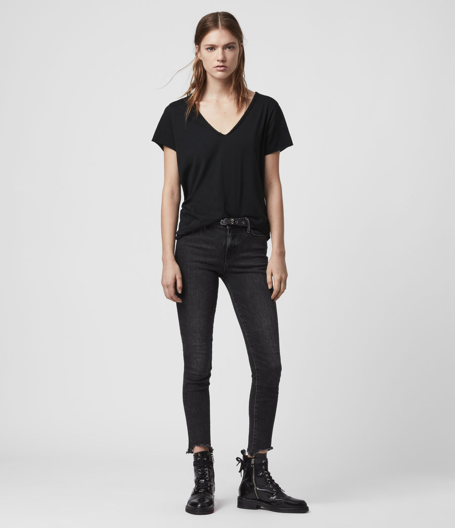Donne T-shirt Emelyn Tonic - Minimal in cotone (jet_black) - Image 5