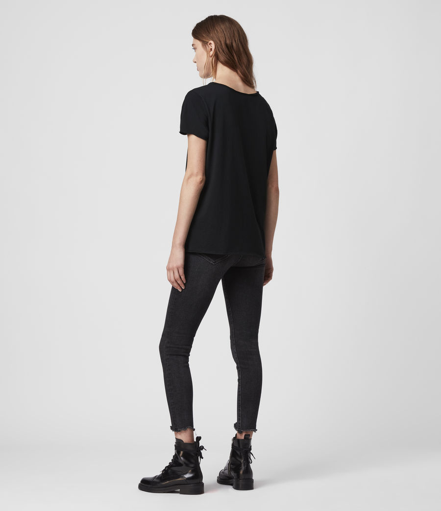 Donne T-shirt Emelyn Tonic - Minimal in cotone (jet_black) - Image 6