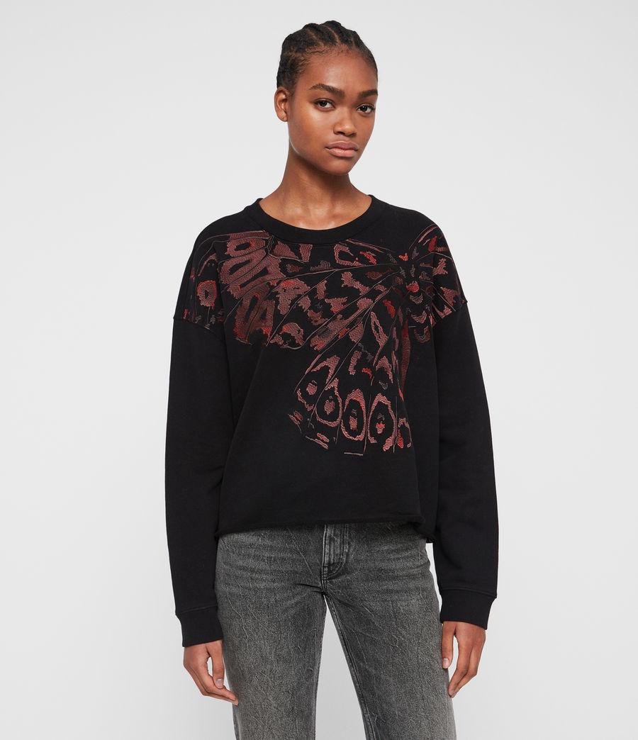 Damen Flutter Lo Sweatshirt (fadeout_black) - Image 1