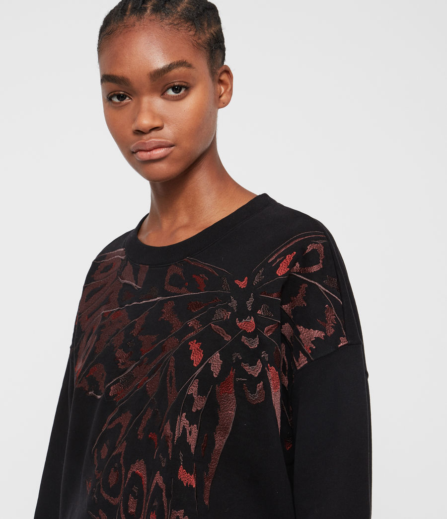 Mujer Sudadera Flutter Lo (fadeout_black) - Image 2