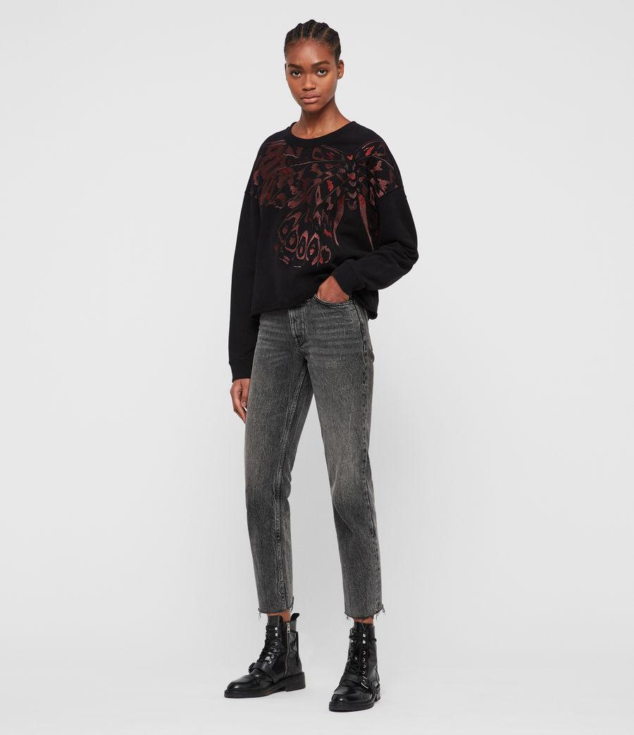Damen Flutter Lo Sweatshirt (fadeout_black) - Image 3