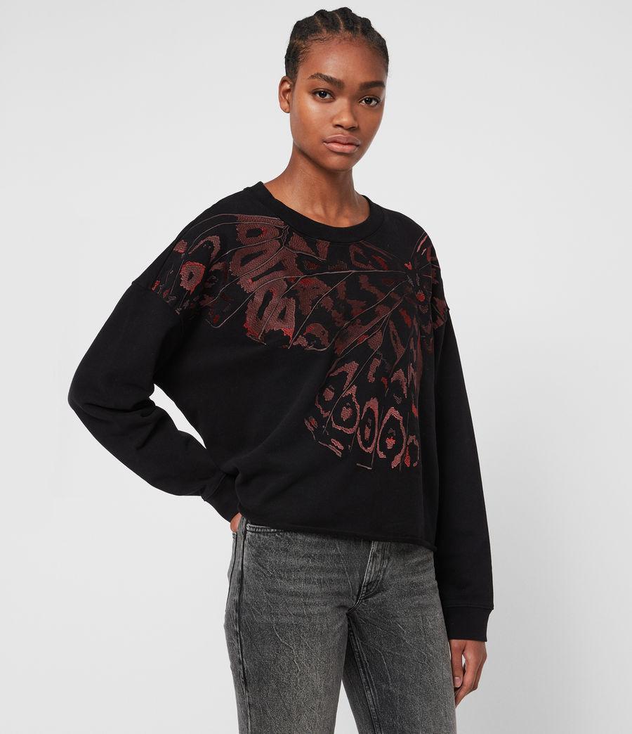 Damen Flutter Lo Sweatshirt (fadeout_black) - Image 4