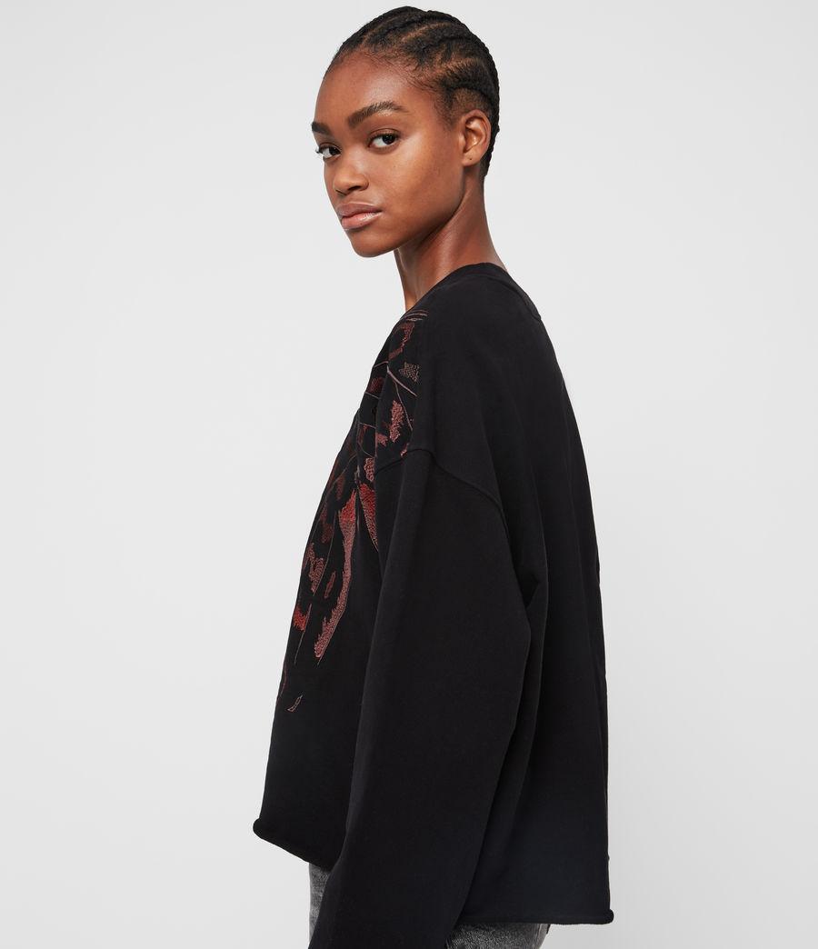 Damen Flutter Lo Sweatshirt (fadeout_black) - Image 5