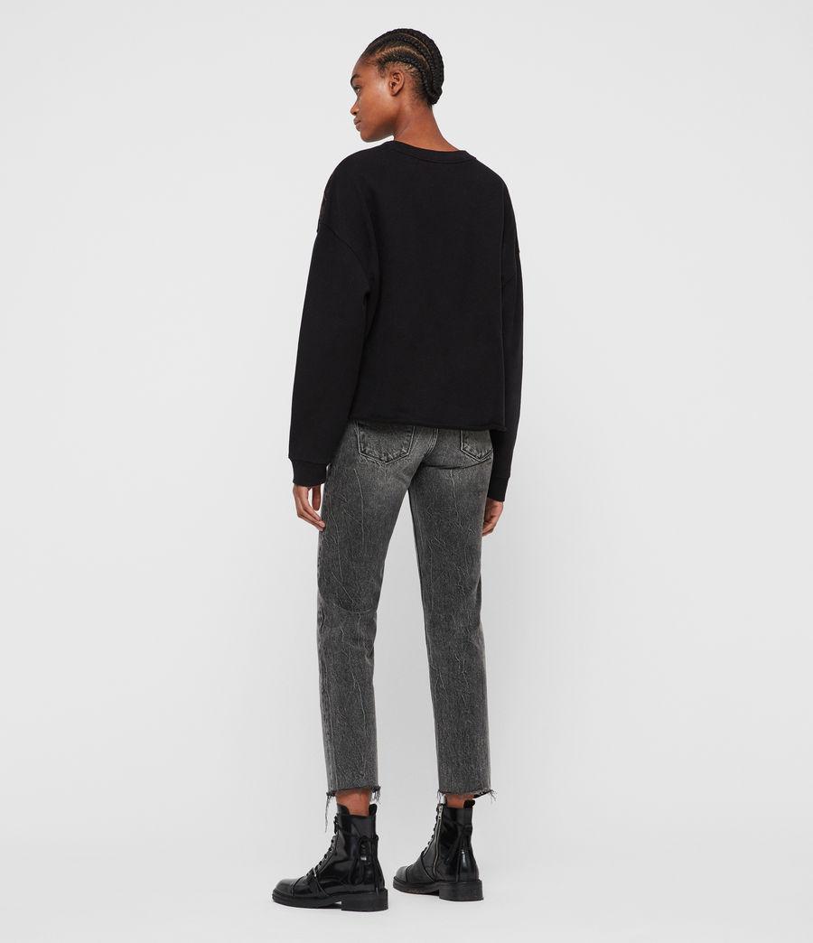 Damen Flutter Lo Sweatshirt (fadeout_black) - Image 6