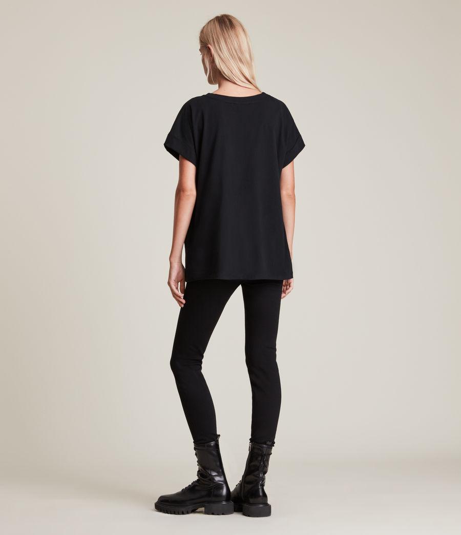 Womens Leather Skies Imogen T-Shirt (black) - Image 4