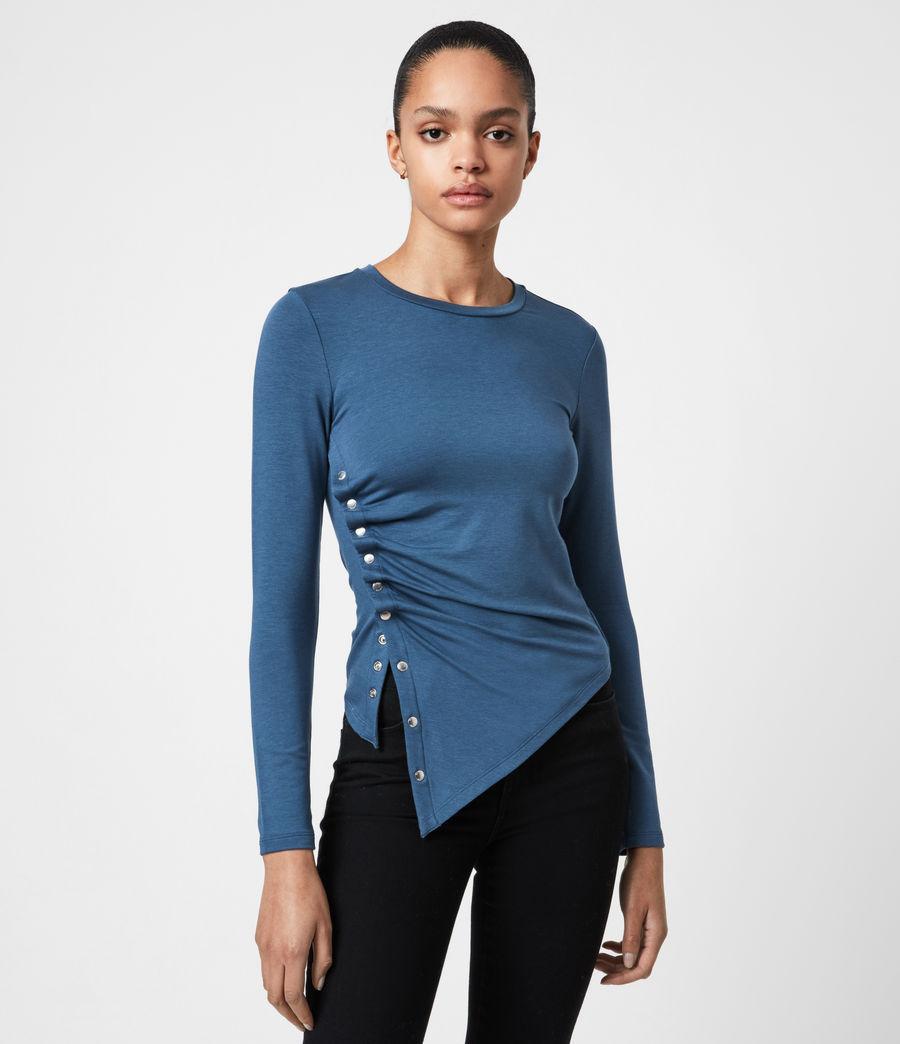 Women's Hatti Long Sleeve T-Shirt (dock_blue) - Image 1