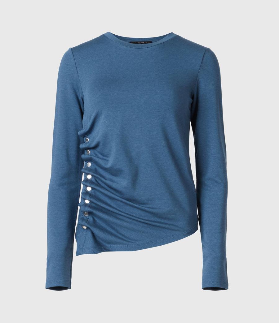 Women's Hatti Long Sleeve T-Shirt (dock_blue) - Image 2