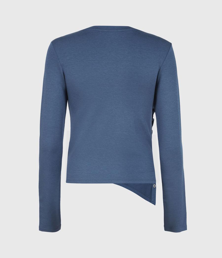 Women's Hatti Long Sleeve T-Shirt (dock_blue) - Image 3