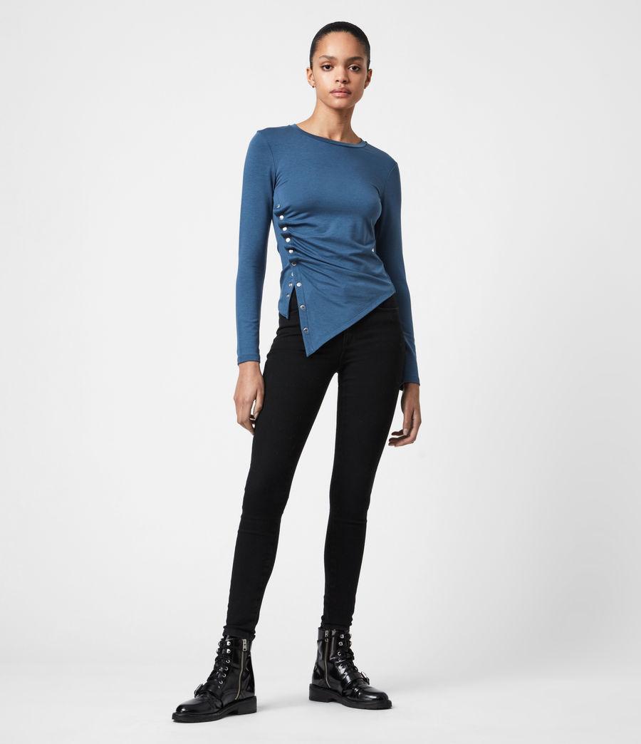 Women's Hatti Long Sleeve T-Shirt (dock_blue) - Image 4
