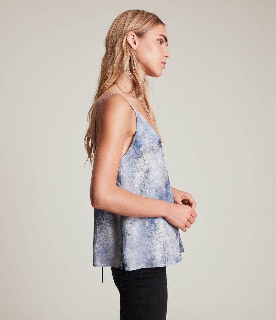 Women's Ally Hampstead Silk Blend Top (sky_blue) - Image 4
